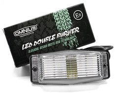 Lampe Kühlergrill LED Double Burner weiß