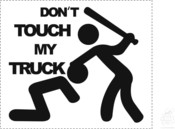 "Aufkleber ""Don´t touch my truck"""