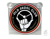 "Schild innen  ""Old Skool Club"""