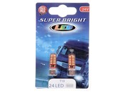 LED 24V T10 24 LED Super Bright weiß