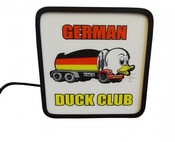 Leuchtkasten German Duck Club by Dieselgarden