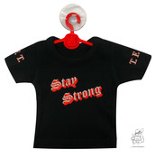 Mini Shirt Stay Strong inkl. Bügel und Sauger