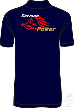 "Polo Shirt ""German Power"""