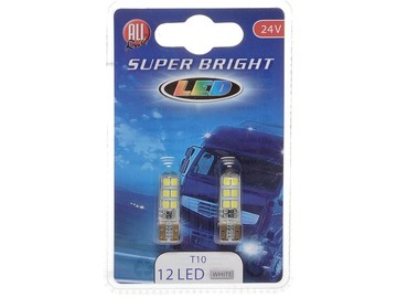 LED 24V T10 12 LED Super Bright weiß
