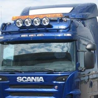 Transparent passend fur Scania auf Spoiler