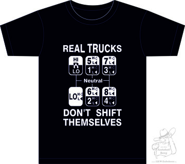 "T-Shirt  ""Real Trucks""  S- 5XL"